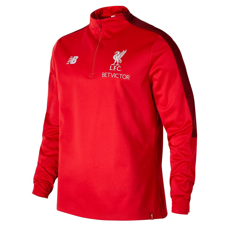 ee5d9ad5a6e23 Amazon.com : New Balance 2018-2019 Liverpool Elite Half Zip Training  Softshell (Red) : Clothing