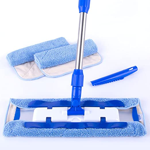 4 opinioni per MR. SIGA Professional Microfiber Mop (Included 3 Microfiber Cloth Refills and 1