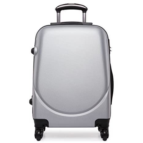 "Kono Hard Shell 4 ruedas 20 ""carrito de equipaje de mano maleta cabina luz"
