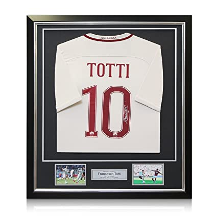 3998ded2b Image Unavailable. Image not available for. Color  Francesco Totti Signed  AS Roma 2016-17 Away Jersey  The Final Season In Deluxe
