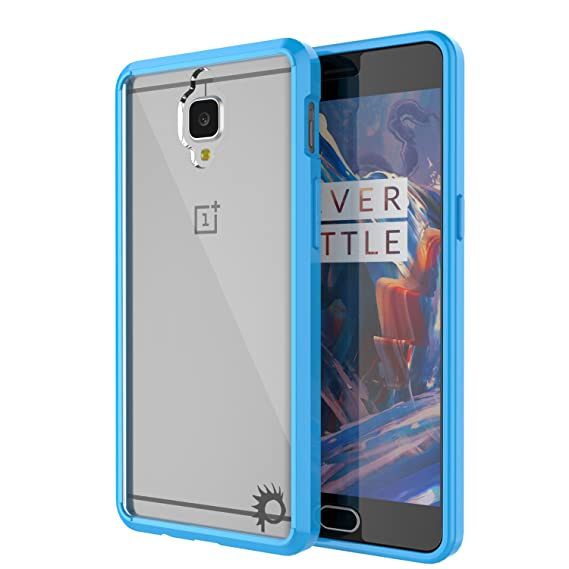 wholesale dealer 66184 457c5 OnePlus 3T Case / OnePlus 3 Case,PUNKcase[LUCID 2.0 Series][Slim Fit][Clear  Back]Armor Cover w/Integrated Anti-Shock System&Tempered Glass PUNKSHIELD  ...