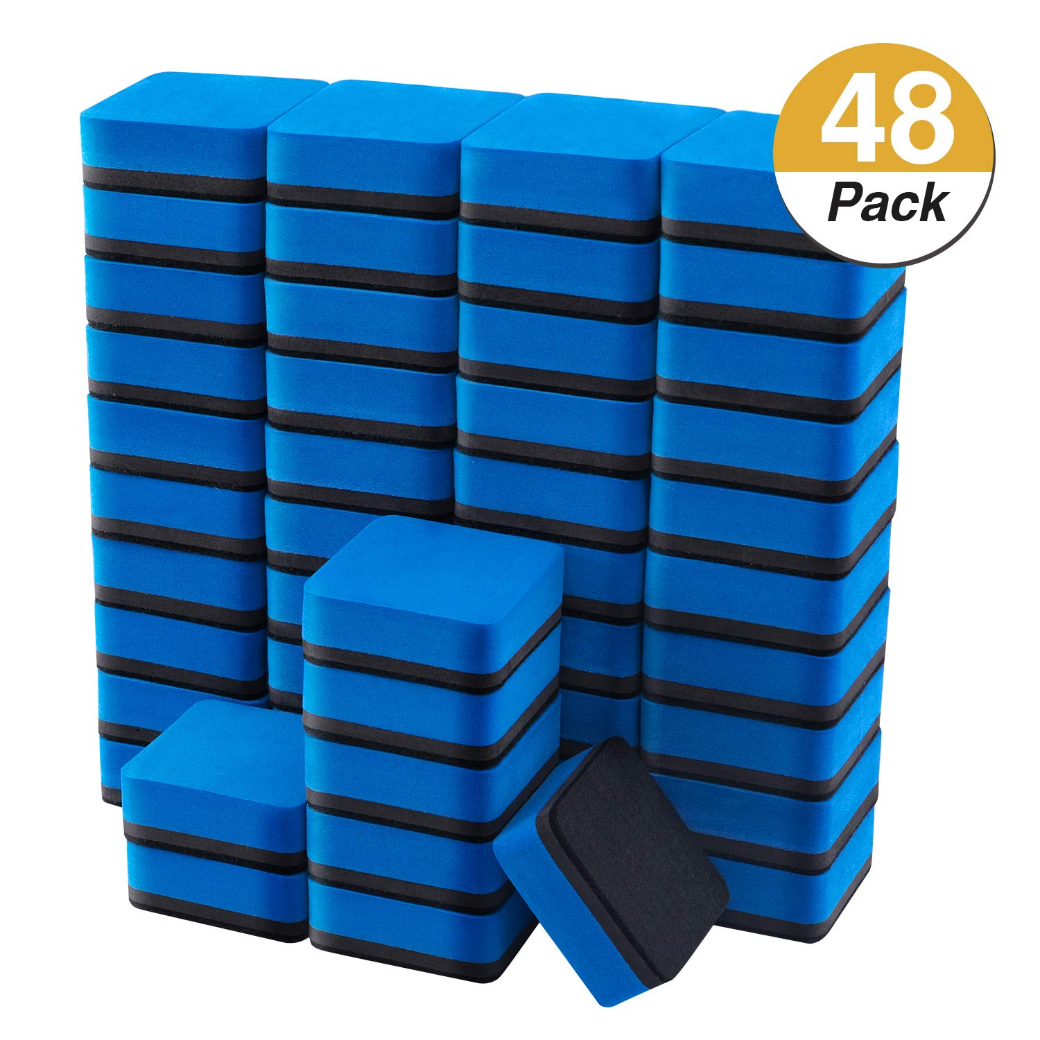 Whiteboard Eraser 20Pack Whiteboard Dry Eraser,Square Shape Chalkboard Cleaners Wiper for Classroom Office Home School and Perfect Gift for Kids