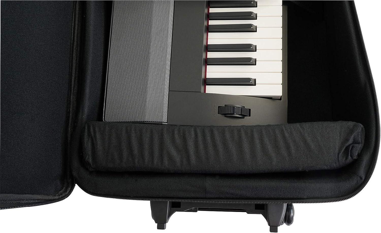 Rockville 61 Key Keyboard Case w// Wheels+Trolley Handle For NORD C2D Combo Organ