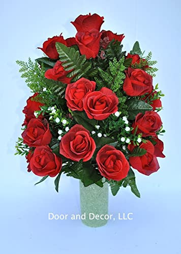 Amazon Red Roses Cemetery Flowerscemetery Arrangement