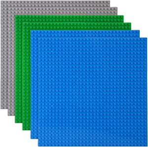 LVHERO Classic Baseplates Building Plates for Building Bricks 100% Compatible with All Major Brands-Baseplate, 10