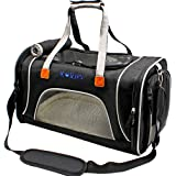 Cat Carrier, KQRNS Airline Approved Pet Carrier for Medium Cat Travel Carrier Soft Sided Small Dog Carrier Fits Under Seat Small Animal Carrier Puppy Carrier with Fleece Bedding & Safety Lock