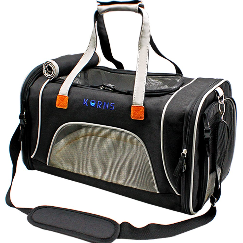 Pet Carrier Dogs & Cats-Airline Approved Travel Pet Carrier-Soft Sided Cat Carrier Puppy Carrier Fleece Bedding & Safety Lock -Best Small Dog Kitten Rabbit Cat Travel Bag Fits Under Seat