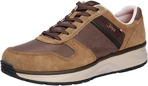 Joya Tony II Leather Textile Casual Lace-Up Low-Profile Mens Trainers