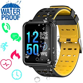 Amazon.com: Kidaily IP68 Waterproof Sport Fitness Tracker ...