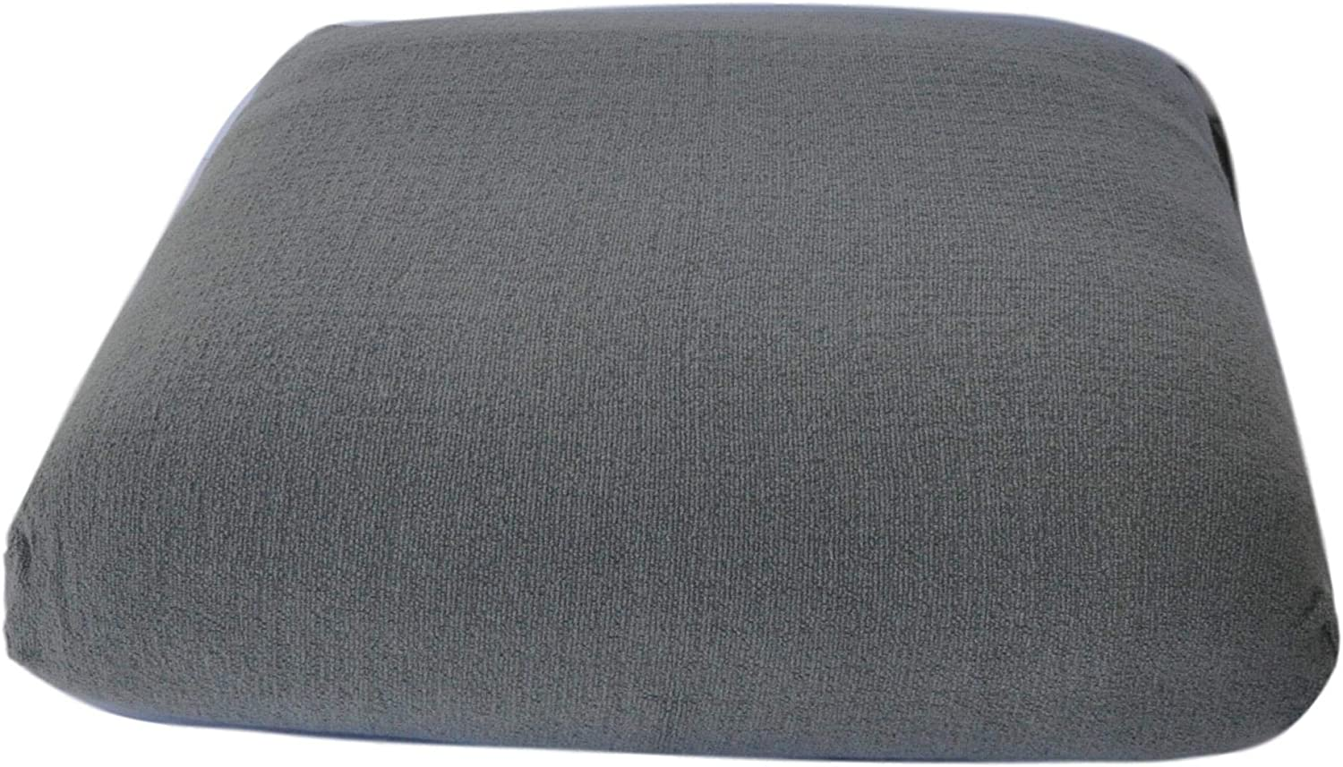 CushyChic Outdoors Terry Slipcover for Ottoman Cushion in Cool Medium Grey – Slipcover Only – Cushion Insert NOT Included