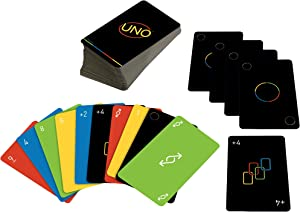 UNO Minimalista Card Game Featuring Designer Graphics by Warleson Oliviera, 108 Cards, Kid, Family & Adult Game Night, Unique Gift Design Lovers Ages 7 Years & Older