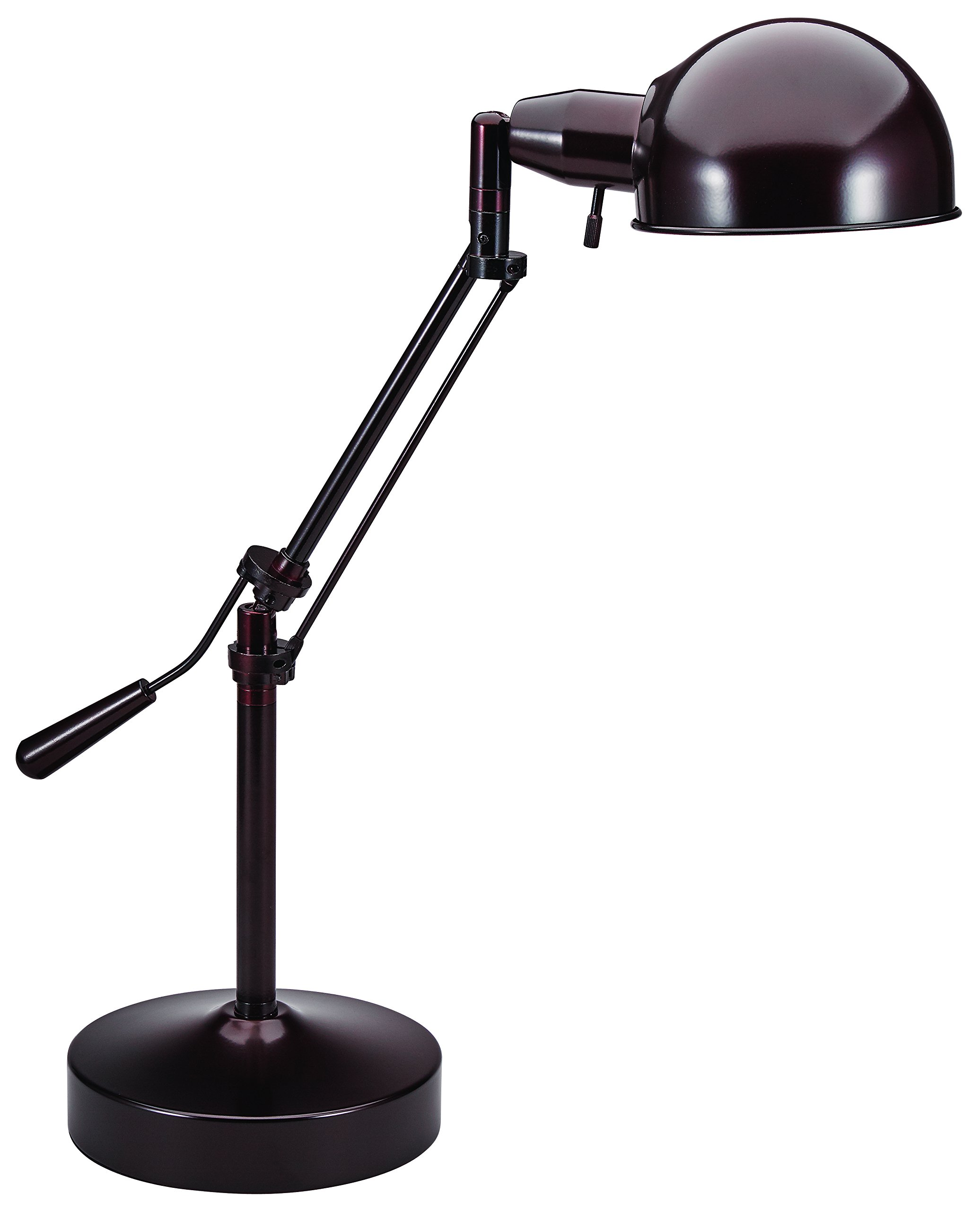 V-LIGHT Pharmacy Style CFL Desk Lamp with Height-Adjustable Tilt-Arm Feature, Antique Bronze (VS687372BRZ)