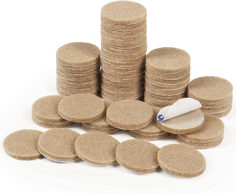 Felt Pads,50 Pieces Furniture Pads Self Adhesive Round Furniture Feet Protectors for Hardwood & Laminate Flooring(Beige)