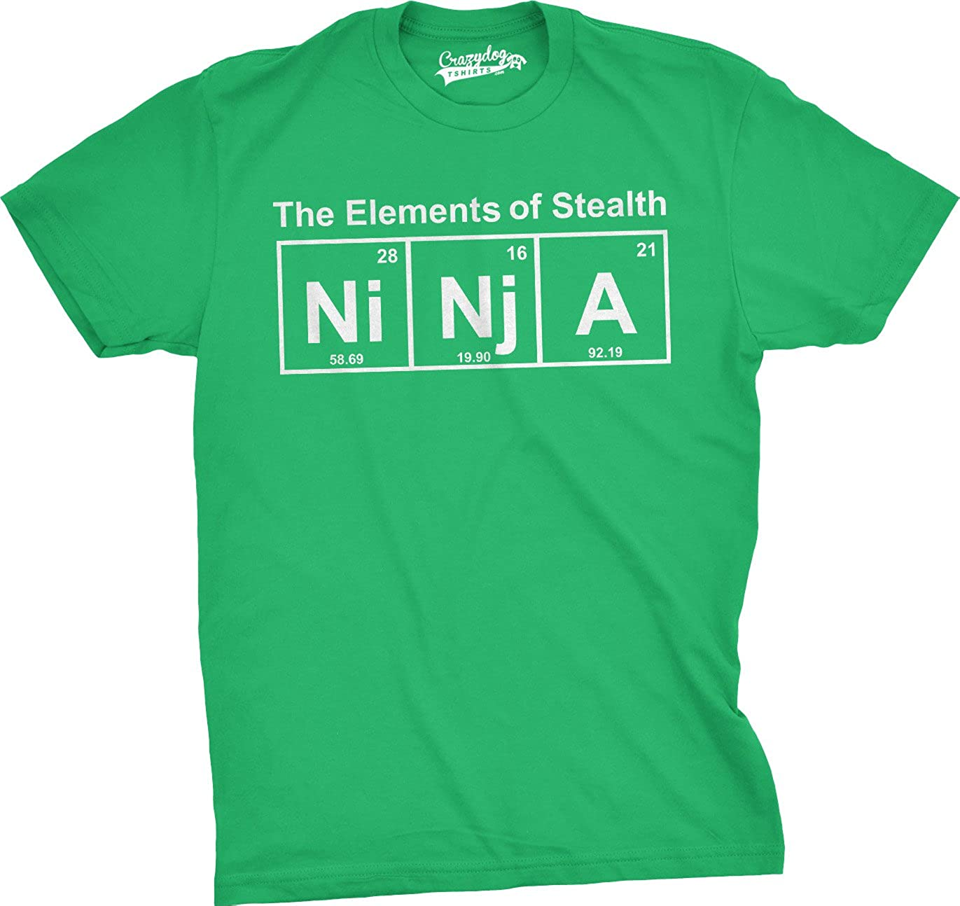 Mens Ninja Element of Stealth T Shirt Funny Science Mens Graphic Nerdy Tees