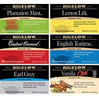 Bigelow Bigelow Black Tea 6 Flavor Variety Pack, 20 Count Box (Pack of 6) Caffeinated Black Teas, 120 Tea Bags Total