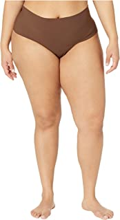 product image for hanky panky Plus Size Bare Godiva High-Rise Thong Mahogany 1X (16W-18W)