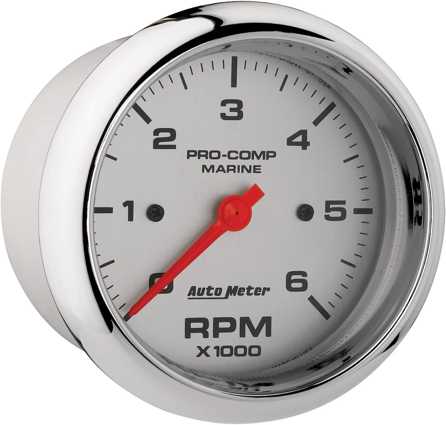 6K RPM Auto Meter AutoMeter 200752-40 Gauge Marine Carbon Fiber 3 3//8 Tachometer