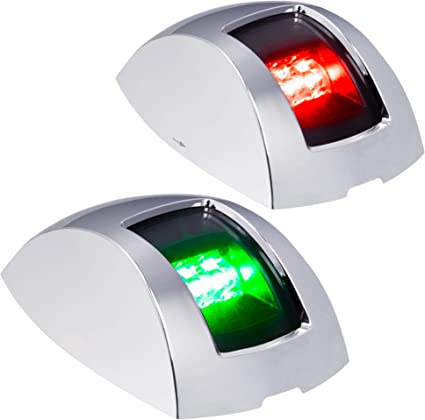 2PCS Red /& Green Marine Side LED Navigation Light for Marine Boat Yacht ABS