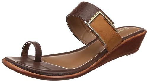 1a2752c0e55 BATA Women s Hazel Toe Ring Brown Slippers - 4 UK India (37 EU ...