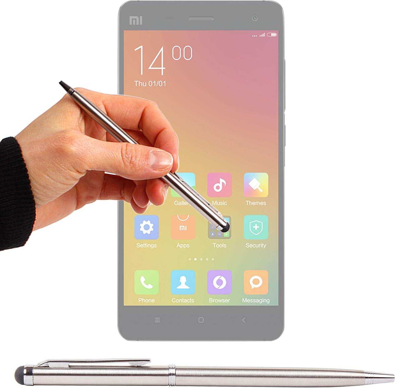 DURAGADGET Puntero Lápiz Óptico Gris Plata 2 En 1 para Xiaomi MI 4 ...
