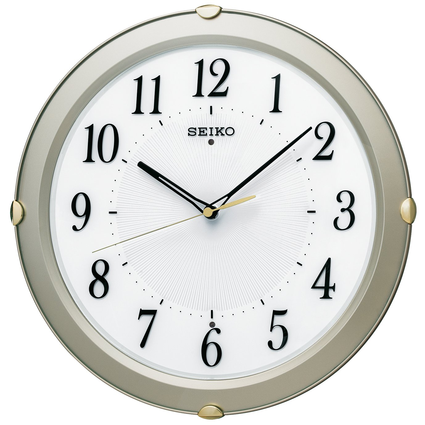 セイコー クロック 掛け時計 電波 アナログ 薄金色 パール KX211S SEIKO B014KIXLGC薄金色 パール