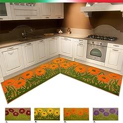 Teppich Design Fliesen Metall Esszimmer Wohnzimmer Badezimmer R/ückseite rutschfest 3/Ma/ßnahmen Mod.Rania 80x120 cm