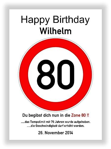 Tráfico De Caracteres 80 cumpleaños - Señal de tráfico ...