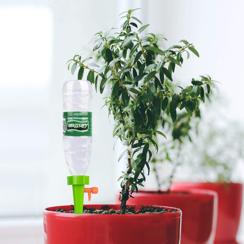Bew/ässerungssystem Instellbar Einfaches Zum Gie/ßen von Gartenpflanzen Blumen Bew/ässerung Zimmerpflanzen Pflanzen Bew/ässerung Urlaub 18 St/ück Automatisch Bew/ässerung Set mit Steuerventilschalter