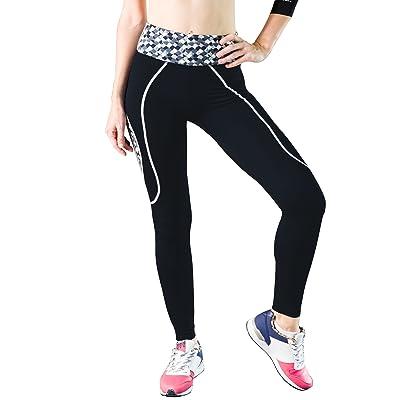 Zupoo Yoga Pants, (TM) Color Stitching Yoga Capris Pants,Women's Running Pants