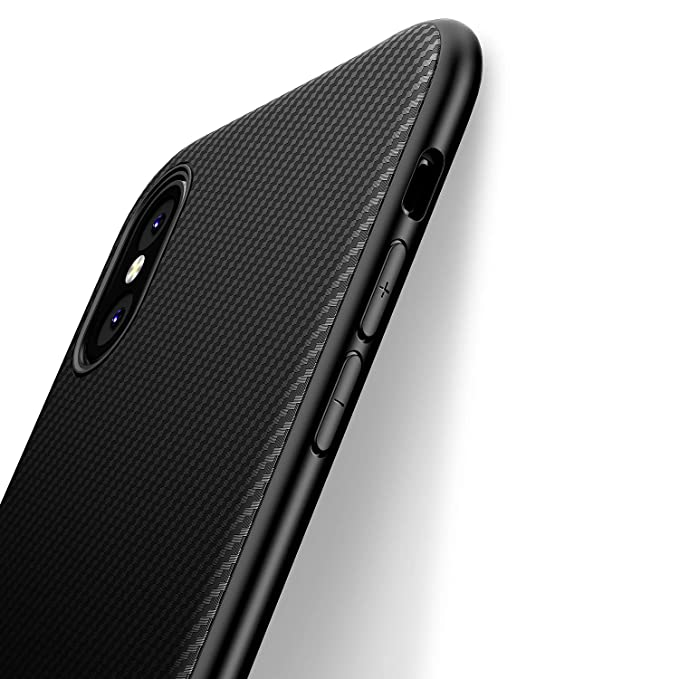 cover iphone xs carbon