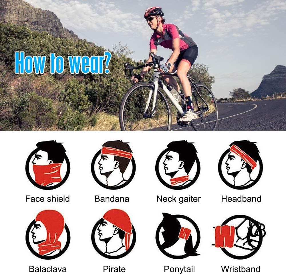Neck Gaiter Face Scarf Dust Mask Sun Protection Cool Lightweight Breathable Fishing Hiking Running Cycling