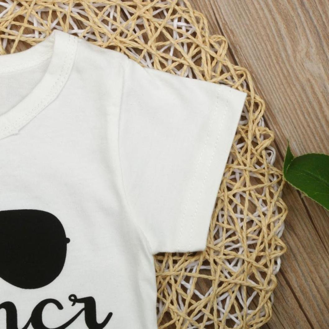 Toddler Infant Kids Baby Boy Girl Short Sleeve Letter Print T-Shirt Tops Clothes Outfits Pollyhb Girls Boys T-Shirt