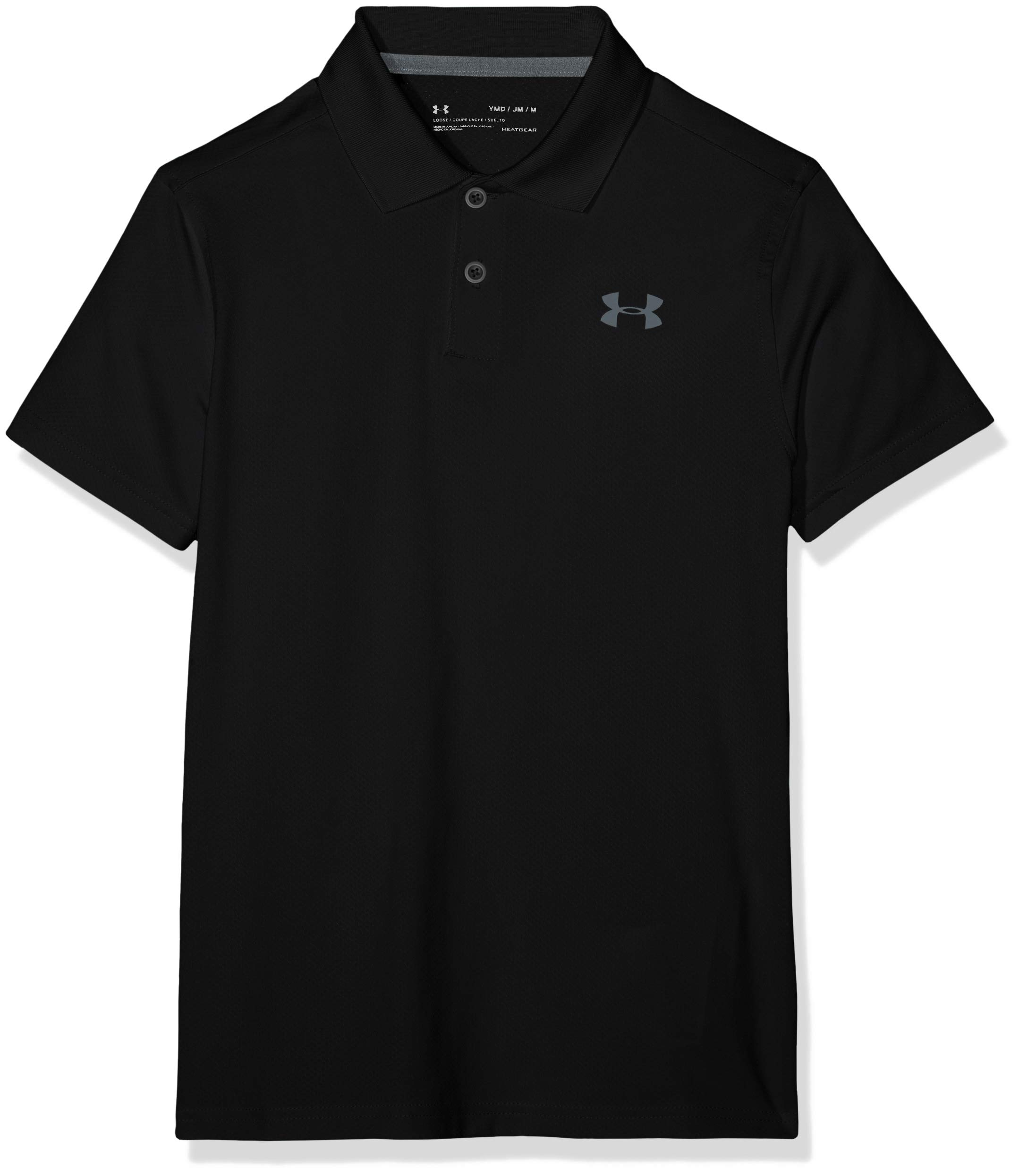 Under Armour Performance Polo 2.0, Black/Pitch Gray, Youth X-Small