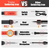 Soldering Iron Kit Electronics [Upgraded], Yome