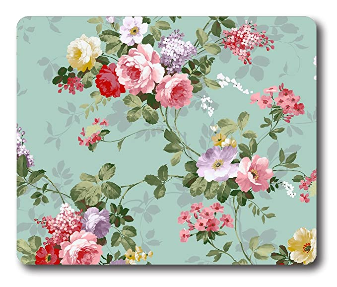 Online Designs Vintage Floral Wallpaper Tumblr Square Printing Padss For Computers 9 7 5inch Mouse Pad