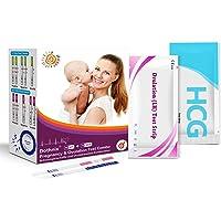 dothnix 40 x Tests de Ovulación 10MlU/Ml (Lh), Tiras de Prueba de Ovulación y 10 x Test de Embarazo Ultrasensibles (HCG…