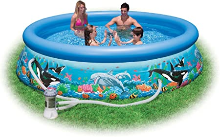Intex 28126 - Océano Pescados Piscina Easy Set, Filtro de Cartucho ...