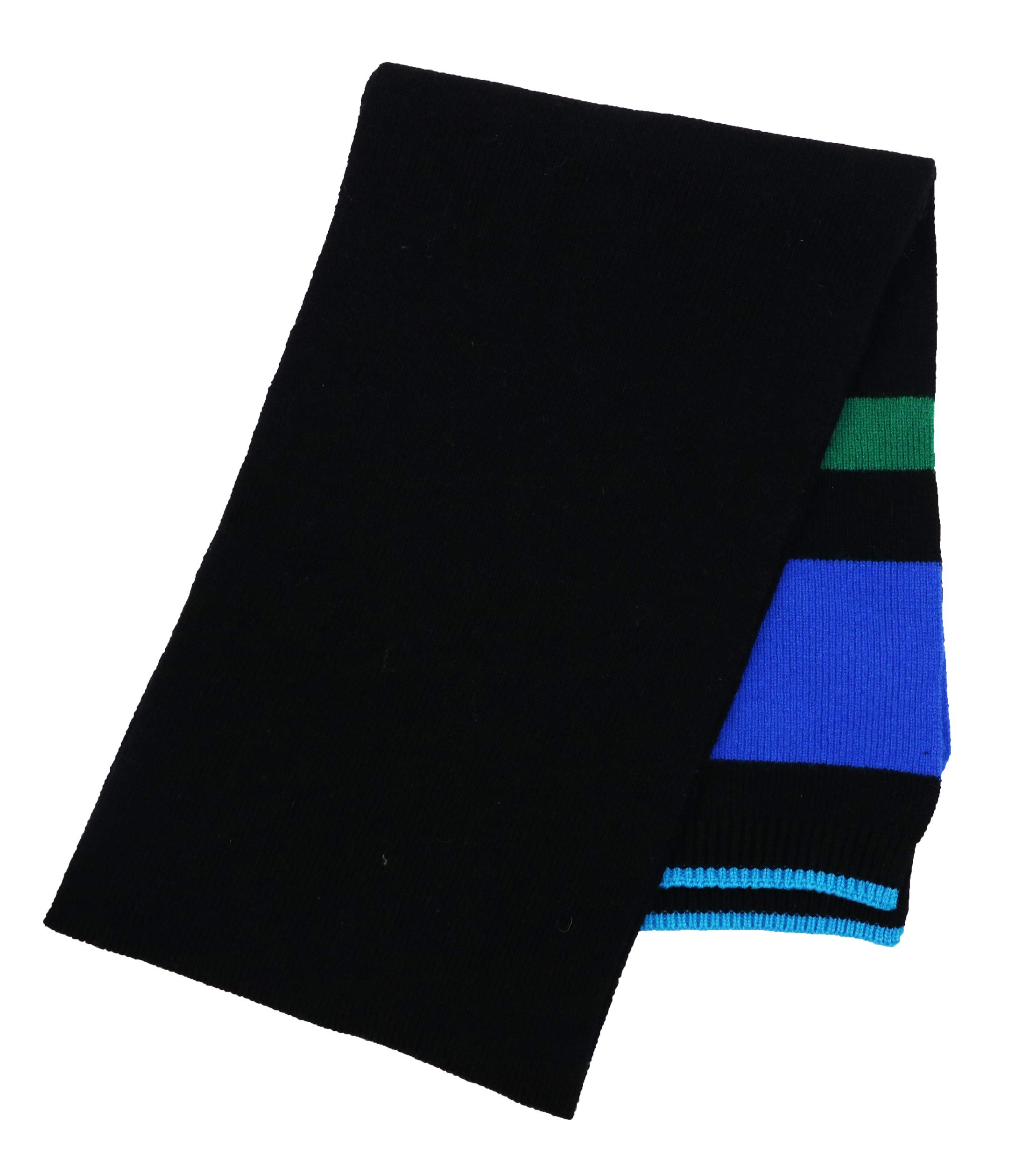 Paul Smith 100% Lambswool Fine Knit Men's Scarf (Charcoal, One Size)