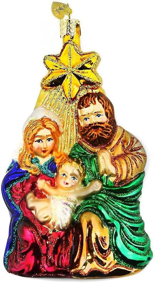 BestPysanky Nativity Scene Blown Glass Nativity Christmas Ornament 5.5 Inches