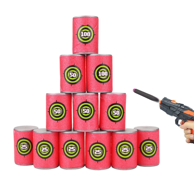 12pcs EVA Soft Foam Bullet Target for Nerf N-strike Elite Series Blasters Kids Toy JVIGUE