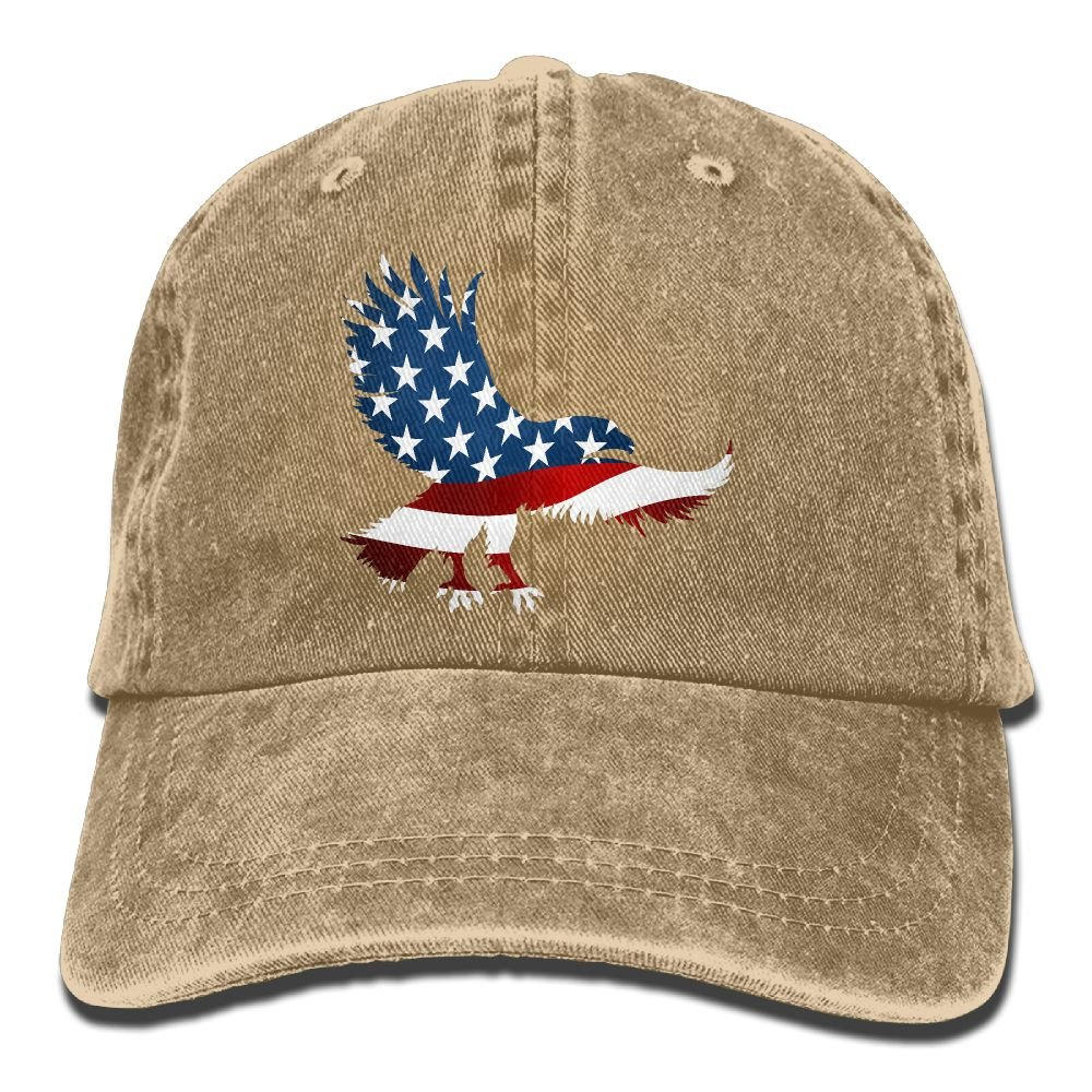 Denim Baseball Cap US Eagle Flag Art Summer Hat Adjustable Cotton Sport Caps