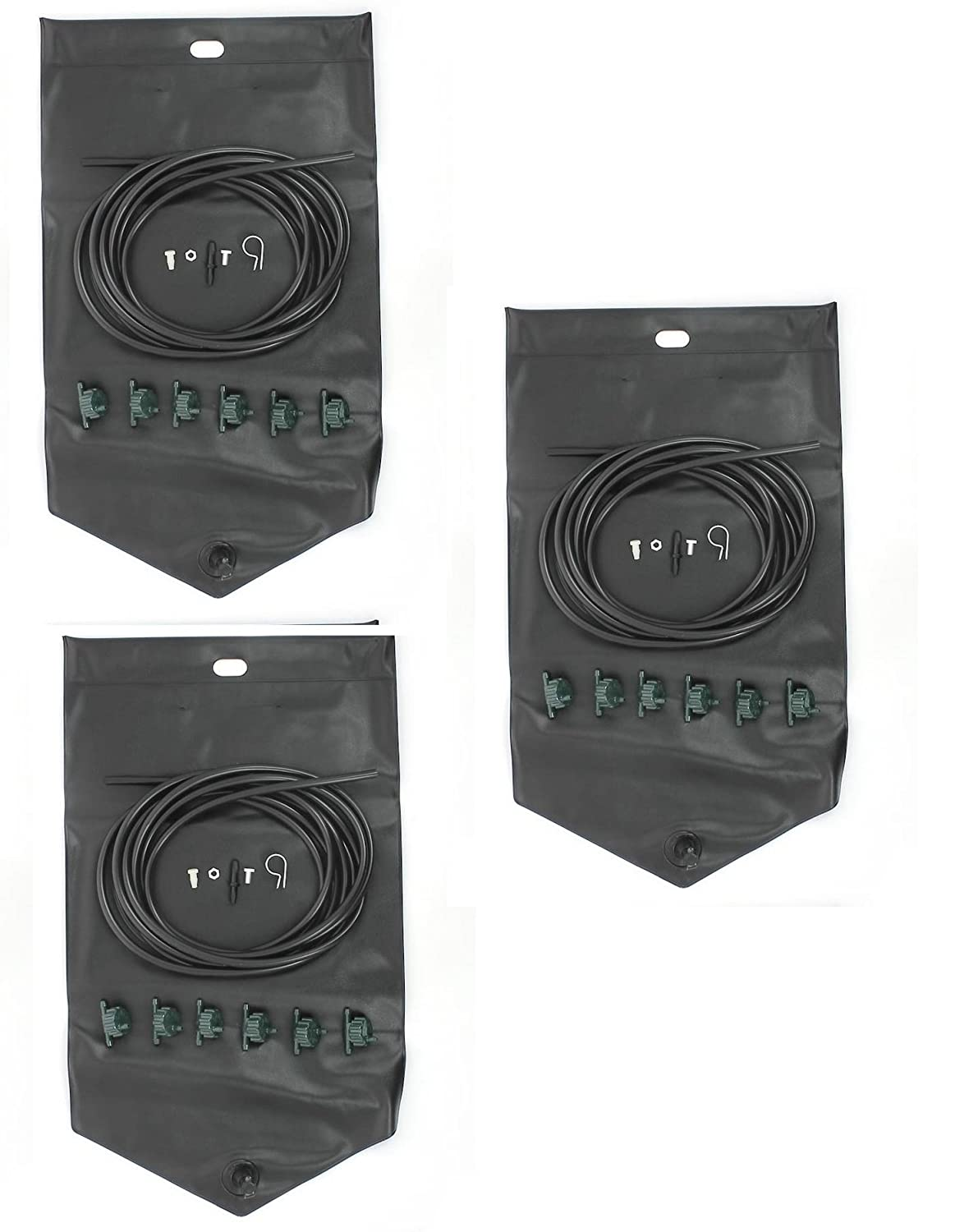 18 station automatic plant watering system from Britten and James. Professional quality drip irrigation. Take care of up to 18 pots, trays or containers while you're away. A simple and very reliable gravity fed system consisting of three large, tough 10.5