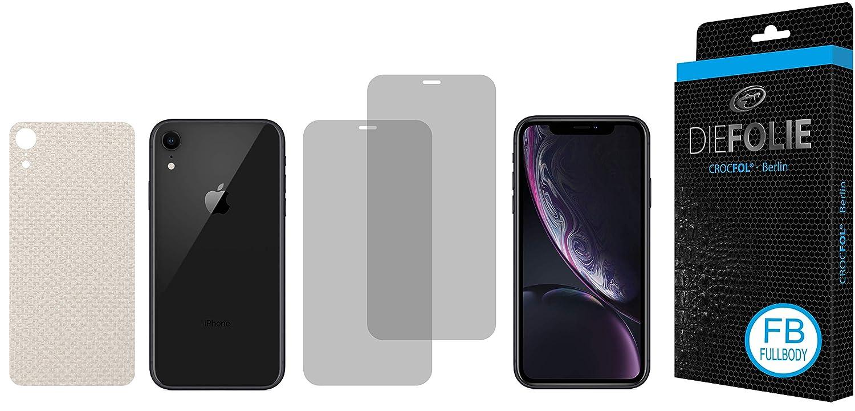 Casefit Folie 2x DASFL/ÜSSIGGLAS fl/üssiges Glas Verwendung mit Schutzh/ülle CROCFOL Displayschutz f/ür Apple IPhone XR : 2x DIEFOLIE Schutzfolie