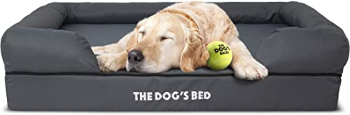 The Dog s Bed Orthopedic Dog Bed, Waterproof, Premium Memory Foam S-XXL, Dog Pain Relief for Arthritis, Hip Elbow Dysplasia, Post Surgery, Lameness, Senior Supportive, Calming Bed, Washable Cover