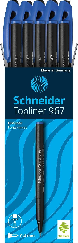 Schneider Topliner 967 Fineliner 1 St/ück blau Strichst/ärke 0,4 mm