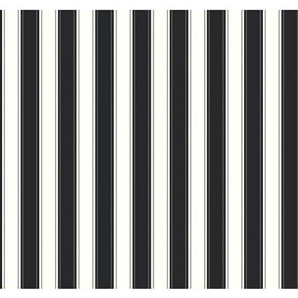 York Wallcoverings SA9159 Ashford Stripes Silk Stripe Wallpaper Black White