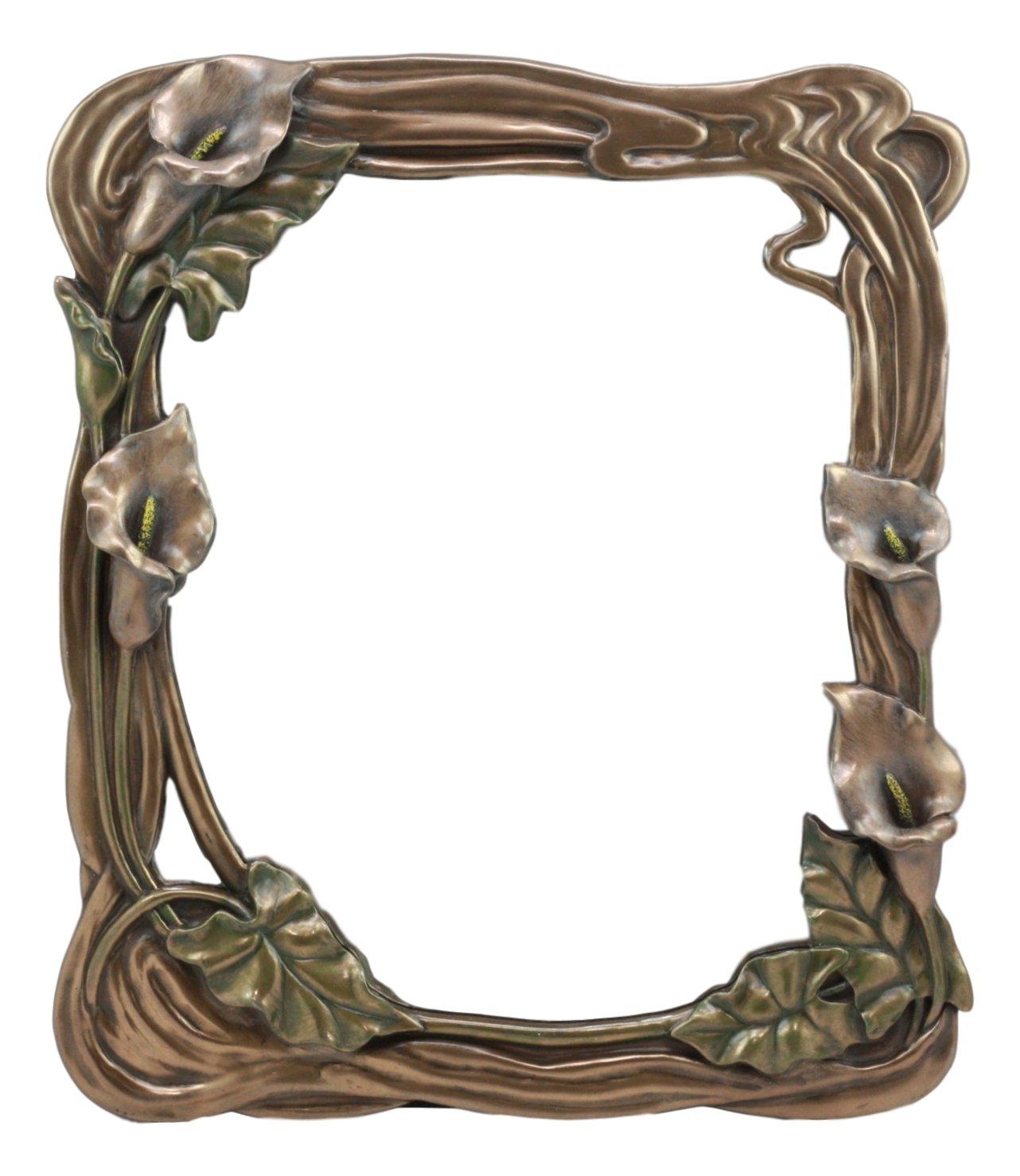 Ebros Fleur De Lis Beautiful Calla Lily Easel Back Or Wall Hanging Vanity Mirror Statue Art Nouveau Calla Lilly Decor Vanity Mirror Figurine
