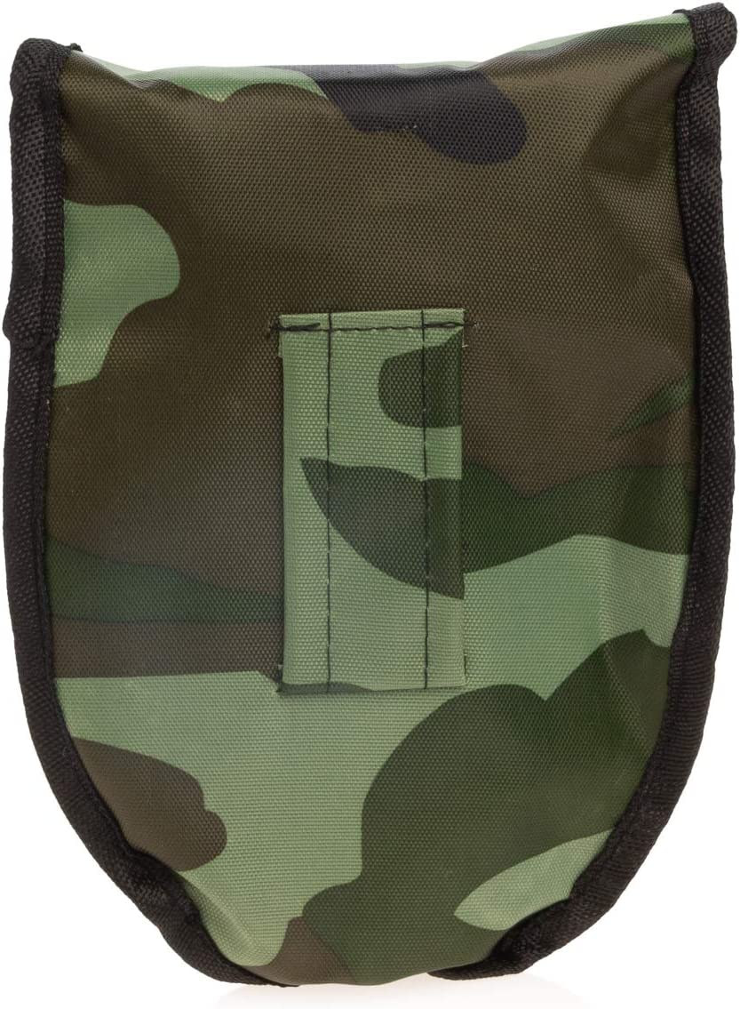 65372 Camping Shovel Folding Multitool with Camo Carrying Case Survival Shovel Camping Gear Camping Accessories Survival