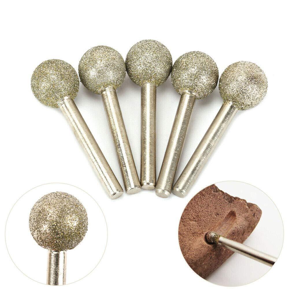 per/çage formage 40 grits pour moulin /électrique 2.35 * 2.5mm pour gravure 5x Forets diamant fraises rotatives machinerie /électrique machines /à graver