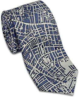 product image for Josh Bach Men's CIVITAS Map of London Silk Necktie, Made in USA